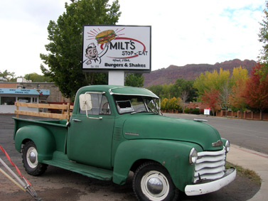 Truck and sign